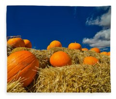 Fall Pumpkins Fleece Blanket