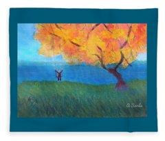 Fall Swinging Fleece Blanket