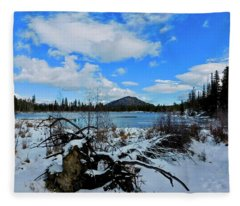 Fleece Blanket featuring the photograph Fallen Timber by Dan Miller