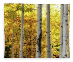Fleece Blanket featuring the photograph Fall's Visitation by Rick Furmanek