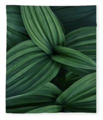 False Hellebore Plant Abstract Fleece Blanket