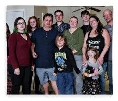 Family2 Fleece Blanket