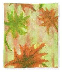 Fanciful Fall Leaves Fleece Blanket