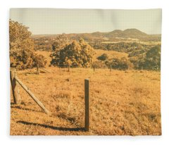Farm Fields Of Eumundi, Sunshine Coast Fleece Blanket
