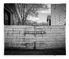 Fleece Blanket featuring the photograph Farm Gate by Steve Stanger