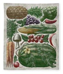 Farmer's Market - Color Fleece Blanket