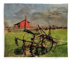 Farming In The 1880s Fleece Blanket