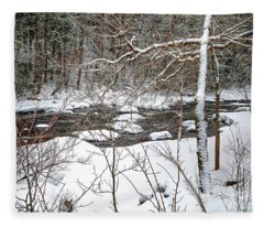 Farmington River - Northern Section Fleece Blanket
