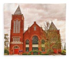 Farmville United Methodist Church Farmville Virginia Fleece Blanket