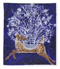 Fawn Bouquet Fleece Blanket