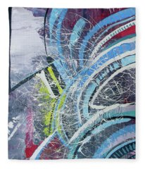 Feathers Of The Curve Fleece Blanket