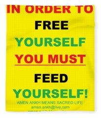 Feed Yourself Fleece Blanket