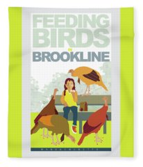 Feeding The Birds Fleece Blanket