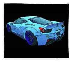 Ferrari 458 Liberty Walk Fleece Blanket