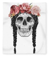 Festival Skull Fleece Blanket