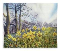 Field Of Hope At Burton Agnes Fleece Blanket