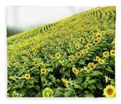 Fields Of Yellow Fleece Blanket