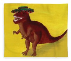 Fies-t-rex Fleece Blanket