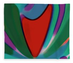 Fiesta - Colorful Carnival Abstraction Fleece Blanket