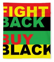 Fight Back Buy Black Fleece Blanket