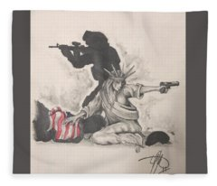 Fighting For Liberty  Fleece Blanket