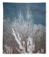 Fingers Of Hoarfrost Fleece Blanket