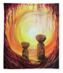 Fire And Earth Latte Stones Fleece Blanket
