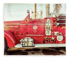 Fire Engine 767 Fleece Blanket