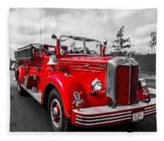 Fire Engine Fleece Blanket