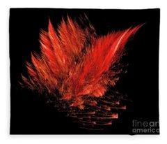 Fire Feathers Fleece Blanket