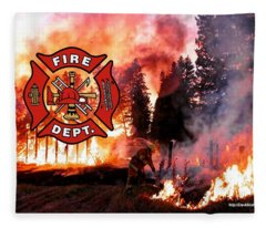 Fire Fighting 3 Fleece Blanket