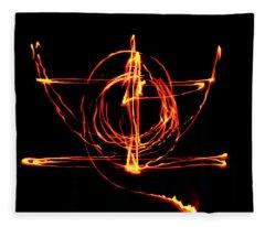 Fire Light Drawing Fleece Blanket
