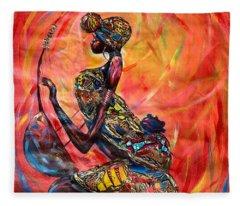 Fire Music Fleece Blanket