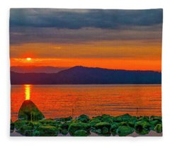 Fire Rock Fleece Blanket