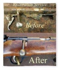 Firearm Restoration Service Fleece Blanket