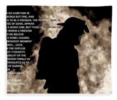 Firefighter Poem Fleece Blanket