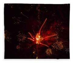 Fireworks Alien Fleece Blanket