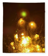 Fireworks All Hell Breaks Loose Fleece Blanket