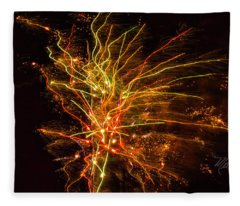 Fireworks Bad Space Day Fleece Blanket