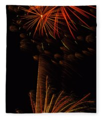 Fireworks Bang Bang Fleece Blanket