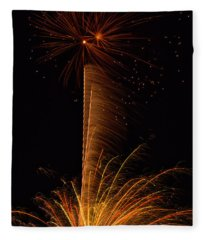 Fireworks Bang Fleece Blanket