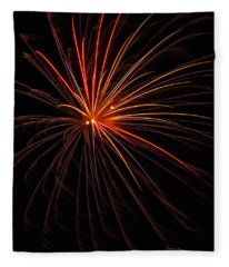 Fireworks Burst Fleece Blanket