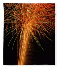 Fireworks Cone Fleece Blanket