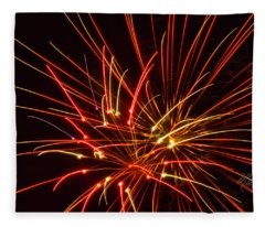 Fireworks Electricity Fleece Blanket