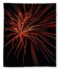 Fireworks Explosion Fleece Blanket