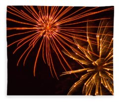 Fireworks Fur Ball Fleece Blanket