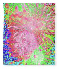 Fireworks In The Cosmos - Celebration Fleece Blanket