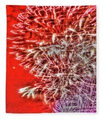Fireworks In The Cosmos - The Big Bang Fleece Blanket