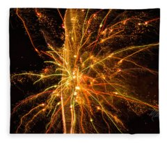 Fireworks Neuron Explosion Fleece Blanket