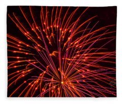 Fireworks Ring Of Fire Fleece Blanket